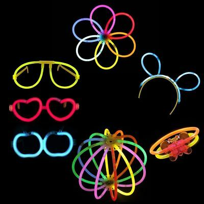 7 Pieces Glow stick Party pack bunny ear eye glasses bracelet for birthday party