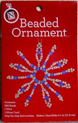 Beaded Snowflake Christmas Ornament Craft Kit: Make Your Own Holiday Decoration!