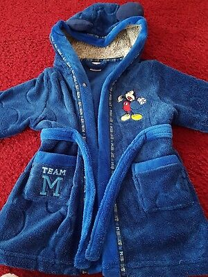 Boys 18-24 months Disney Mickey Mouse Dressig gown Blue