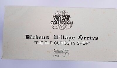 Dept. 56 Dickens' Village Series The Old Curiosity Shop 5905-6 1987