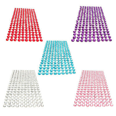 32*10.5CM Self Adhesive Clear Diamante Stick On Crystals Rhinestone Gems Car Dec