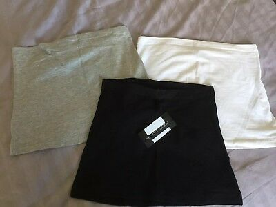Ladies New Look maternity bump covers size small/medium grey, white & black BNWT