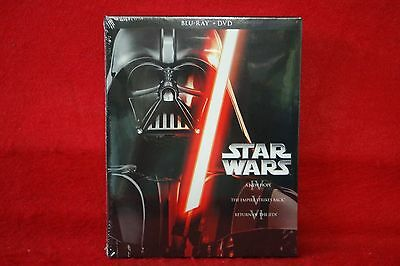 Star Wars Trilogy Episodes IV-VI 4-6 (Blu-ray/DVD) BRAND NEW