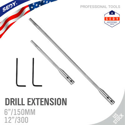 """2PC Drill Bit Extension Bar 12"""" 6"""" Paddle Bits or any 1/4"""" shank Extender Shaft"""