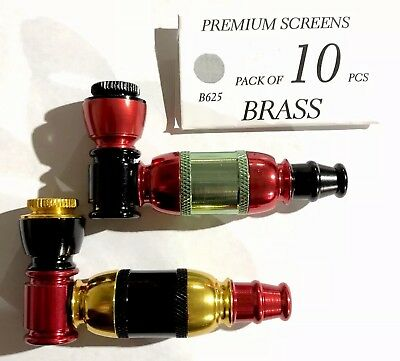 (((Set Of 2)))Collectible Tobacco Smoking Pipe With Pack Of 10 Screen **Xmas