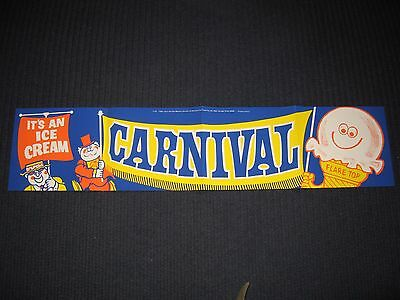 1969 EAT IT ALL CONE Vintage Banner Sign B206 - Ice Cream Carnival NOS