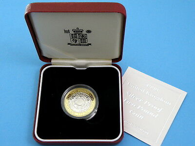 1998 Royal Mint - SILVER PROOF TWO POUND £2 COIN SHOULDERS OF GIANTS + Box & CoA