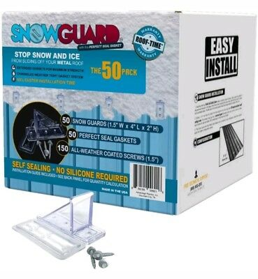 Mini Snow Guard Stop Ice Buildup Seal Gasket Metal Roof Mounting Hardware NEW
