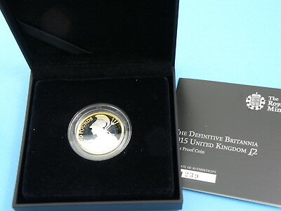 2015 Royal Mint - SILVER PROOF £2 COIN - DIFINITIVE BRITANNIA + Box & Cert