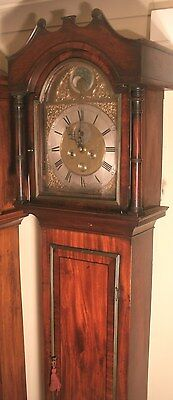 "Antique Mahogany ""Charminster""  Penny Moon  Grandfather / Longcase Clock"