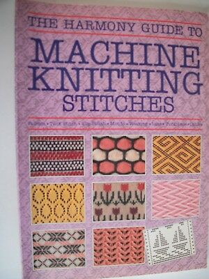 Vintage The Harmony Guide to Machine Knitting Stitches softback Book, 1988