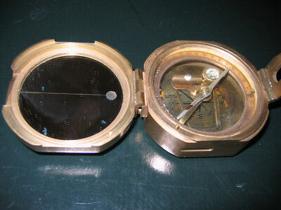 Vintage Stanley London Brass Natural Sine Compass