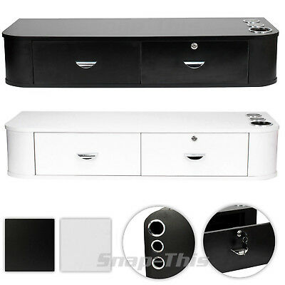 Salon Locking Hair Styling Mirror Station Drawer Cabinet Wall Mount Barber Unit