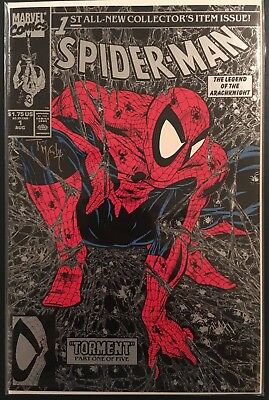 Spiderman 1 Signed by Todd McFarlane Silver Cover with Spider's Web - Pre Spawn