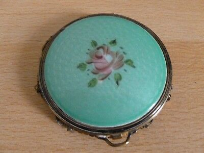 Vintage Evans? Guilloche Enamel and Mesh Compact