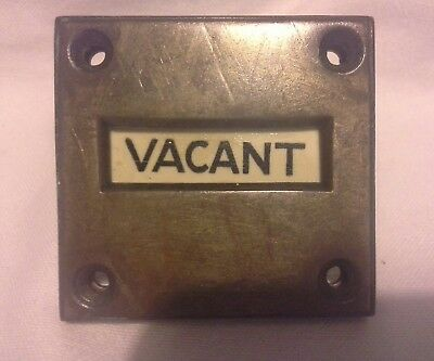 Antique Reclaimed Engaged  / Vacant (Solid Brass) Toilette Door Lock