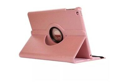 New iPad 9.7 2017 Case 360 Degree Rotating Leather Wallet Stand Cover Rose Gold