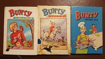 Vintage Bunty for Girls X3 Annuals 1971 1973 & 1976