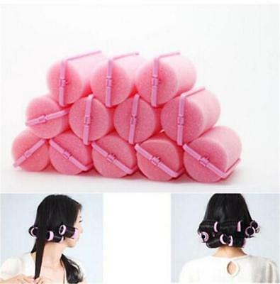 12x Magic Sponge Foam Cushion Hair Styling Rollers Curlers Twist Tools Easy Care