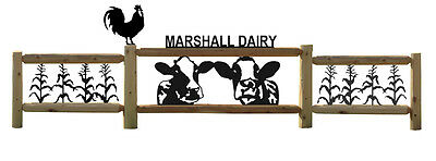 Personalized Farm Signs - Holstien Cows - Dairy Farming - Corn - Roosters