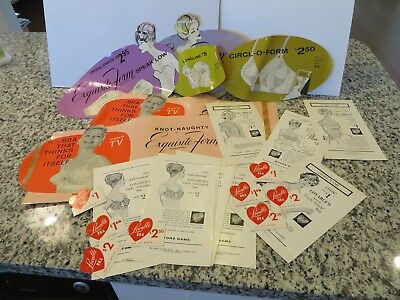 VTG Lovable Bra Equisite Form Brassieres Display Ad Print Proofs Advertising LOT