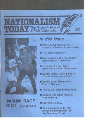 NF BNP - 1980s NATIONALISM TODAY # 2 - John Tyndall - Not Mosley BUF UM