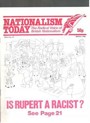 NF BNP - 1980s NATIONALISM TODAY # 27 - John Tyndall - Not Mosley BUF UM