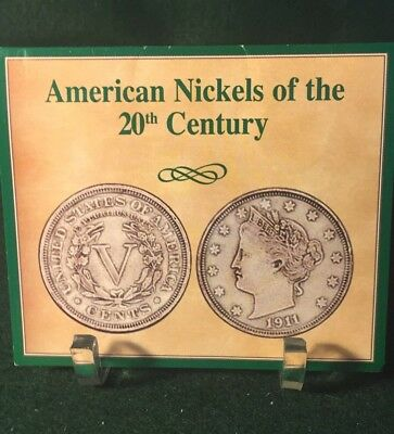 American Nickels Of The 20th Century Set - Liberty Buffalo Wartime Jefferson