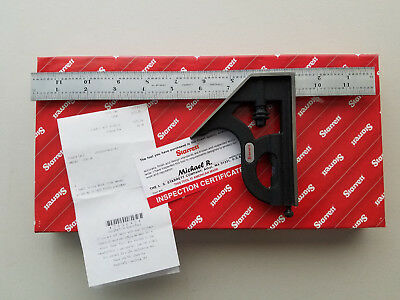 "Starrett C33H-12-4R 12"" Combination Square With Square Head New"
