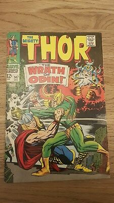 """The Mighty Thor Silver Age Comic #147 - Dec. 1967 - """"the Wrath Of Odin!"""""""