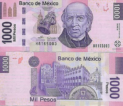 Rj) 2017 Mexico Banknote, Unc, Miguel Hidalgo´s Face, Bell And University Of