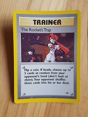 TRAINERThe Rocket's Trap  19/132 - HOLO - Gym Heroes (eng)   (a1051)