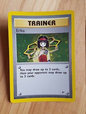 TRAINER Erika  16/132 - HOLO - Gym Heroes (eng)   (a1053)