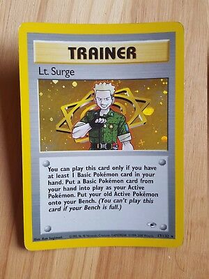 TRAINER Lt. Surges  17/132 - HOLO - Gym Heroes (eng)   (a1052)
