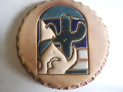 Nan Groves Stoneware Mosaic South Western Motif Bread Tile Trivet