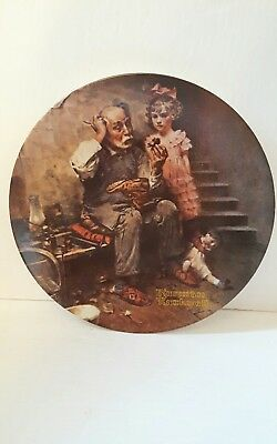 Norman rockwell plate  the cobbler excellent condition no coa