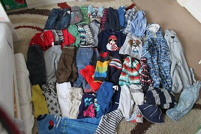 Boys Clothes bundle 6 months to 2 years - over 46 items - Baby Toddler Age 1-2