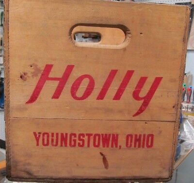 Vintage Rare,holly Beverage,soda Crate Youngstown Ohio,southern Wooden Box Inc