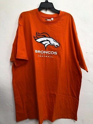 best loved 204d4 c3831 NWT NFL Men s T-Shirt Denver Broncos Cotton Short Sleeves Orange 3XL