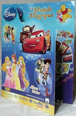 "Album Sticker Panini - Illustrant Les Dessins Animes Disney - ""un Monde Magique"""