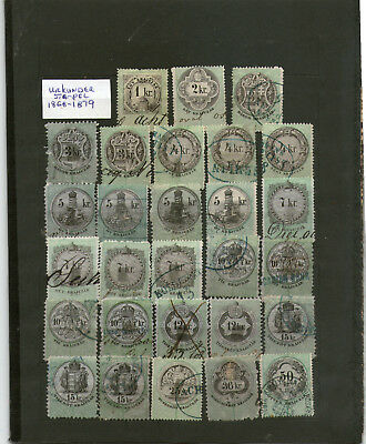 Large revenue / fiscal stamp collection 19th century early 20th century superb