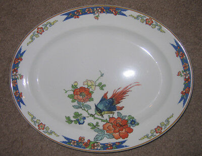 """Wood and Sons Bird of Paradise Oval Serving Plate 12"""""""