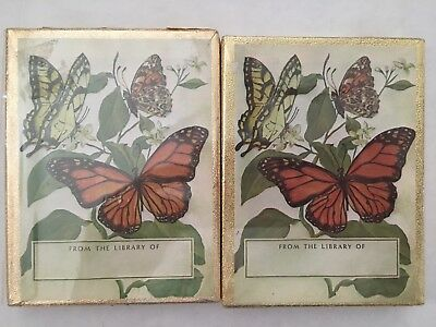 ANTIOCH Bookplate Company 2 SEALED Sets of 50 = 100 BUTTERFLIES  MADE IN USA