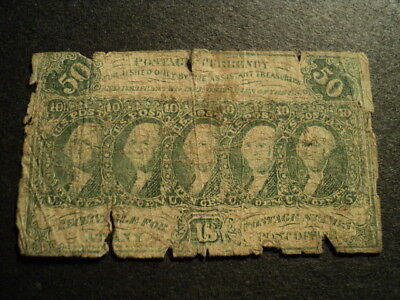 Old Us Postage Fractional Currency 50 Cents