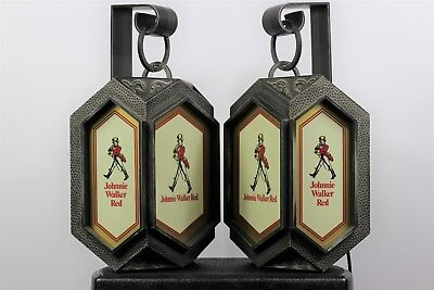Vintage Johnnie Walker Red Wall Lantern Old Fitzgerald Distillery Very Rare 1Set