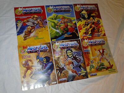 6 x EHAPA He-Man Masters Of The Universe Jahrgang 1987 komplett deutsch !