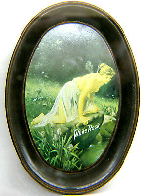 Vintage Fabcraft White Rock Nude Fairy Water Soda Advertising Change Tip Tray
