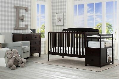 Delta Children's Royal Fixed-Side Crib 'n Changer,  Finish