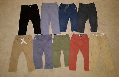 9 x pairs of boys trousers 12-18 months