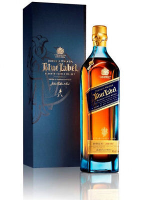 Fast and free delivery! 750ml Boxed BLUE LABEL Johnnie Walker Scotch Whisky